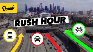 CAR vs BIKE vs TRAIN - We found the FASTEST way through LA Traffic