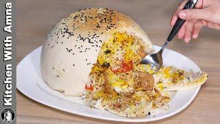 Parda Biryani Without Oven   Chicken Biryani Recipe   Kitchen With Amna