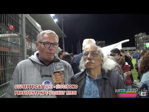 GIUSEPPE CATTANI, PRESIDENTE DELLA NPC RIETI BASKET ALLA PARTITA DEL CUORE