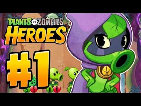 MEET THE HEROES | Plants Vs Zombies Heroes Gameplay Walkthrough Part 1 (New PVZ Heroes Ep 1)