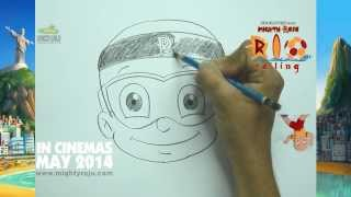 Learn How to Draw Mighty Raju