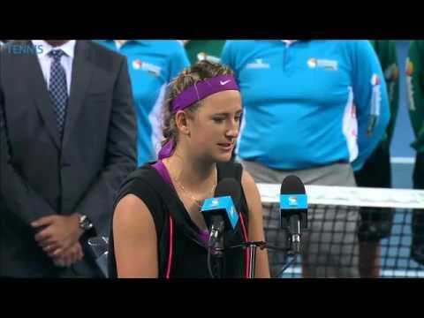 Victoria Azarenka 2016 Brisbane International Final Speech