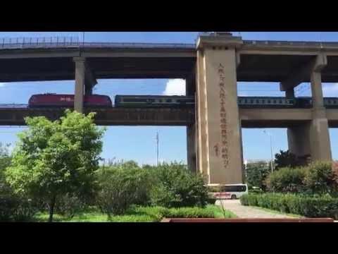 (8-10-16) Railfanning Yangtze Bridge in Nanjing, China Pt. 2: Workin' on the Track