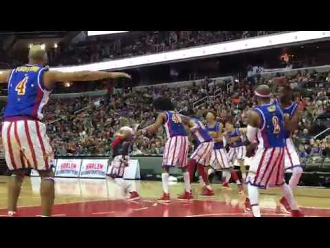 Hilarious Kid at Harlem Globetrotters Game