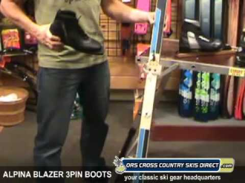 Alpina Blazer Mm Pin Ski Boots Review Video By ORS Cross Country - Alpina blazer