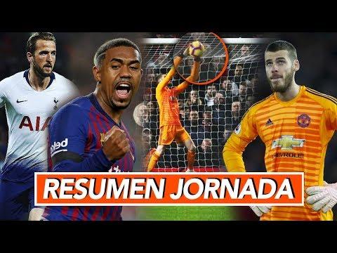 El BarceIona golea I El 'gol' de DE GEѦ I Resumen Jornada GOL DE HOY