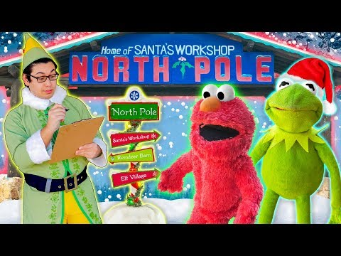 Kermit the Frog and Elmo Find Santa's Christmas Present List!