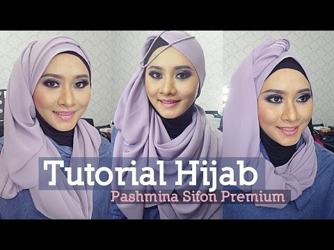 Tutorial hijab pashmina sifon terbaru 2013 hijab tutorial pashmina.