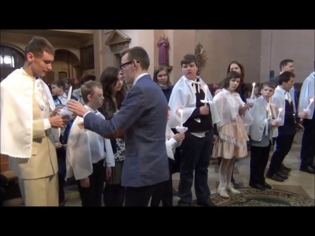 Krikštas ir pirmoji komunija Kauno Jono Laužiko specialiosios mokyklos mokiniams