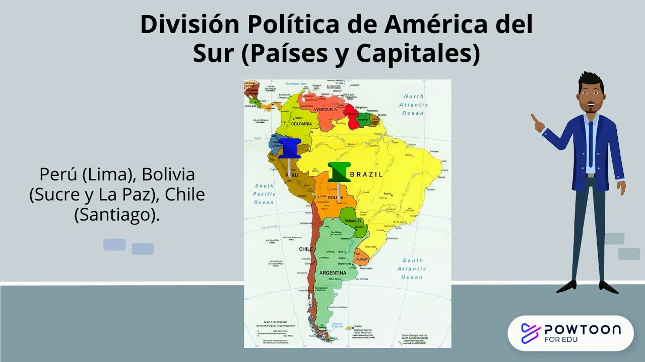 Division Politica De America Del Sur Paises Y Capitales Youtube