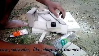 TEMPAT PAKAN BURUNG  dari fiber cement dan botol plastik