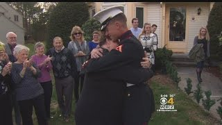 Medway Marine Surprises Family After Tour In Afghanistan