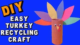 Easy Thanksgiving Turkey Recycling Craft