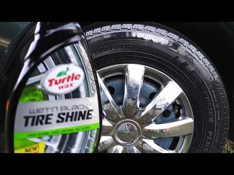 Turtle Wax Wet N Black Tire Shine Demo With Tire Brush