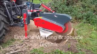 PTH WSF 700 - Wurzelstock Fräse im Einsatz - Tree Stump Grinder in Action