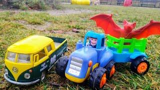 Мультики про машинки Синий трактор весело играет Машинки игрушки Мультики для детей