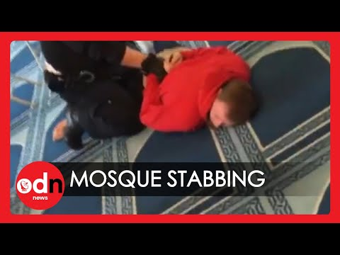 The Moment Alleged Mosque Knifeman is Arrested by Police