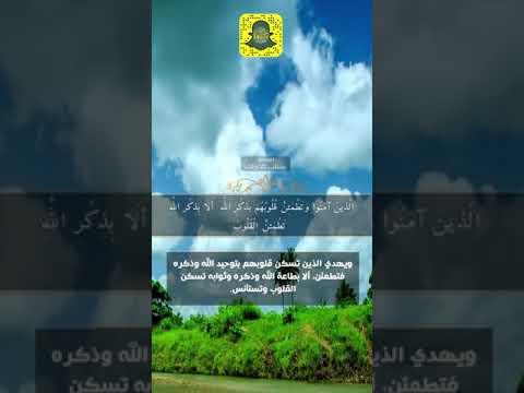 سنابات قرآنية القارئ عبدالله الموسي ألا بذكر الله تطمئن القلوب