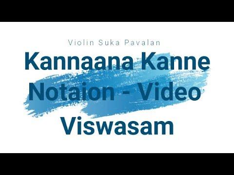 Viswasam Kannana Kanne Notation Cover Video - Thala Ajith - D Imman - Siva & Team