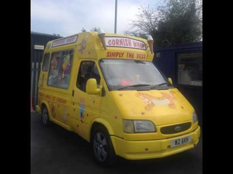 Cornish whip van playing teddy bears picnic