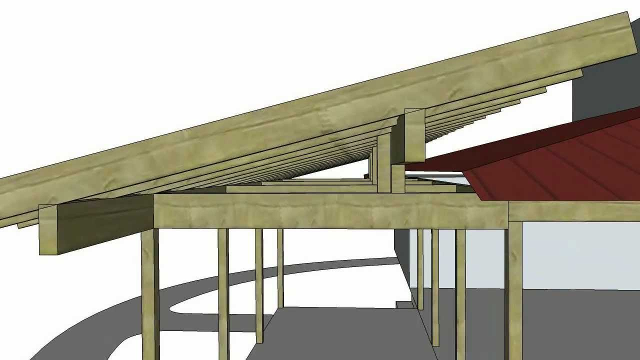 Back porch roof ideas - Porch Roof Addition Sketchup Animation 1216