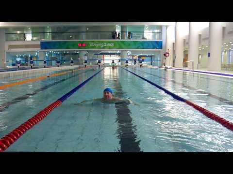 swim at the Olympic Water Cube pool Beijing China