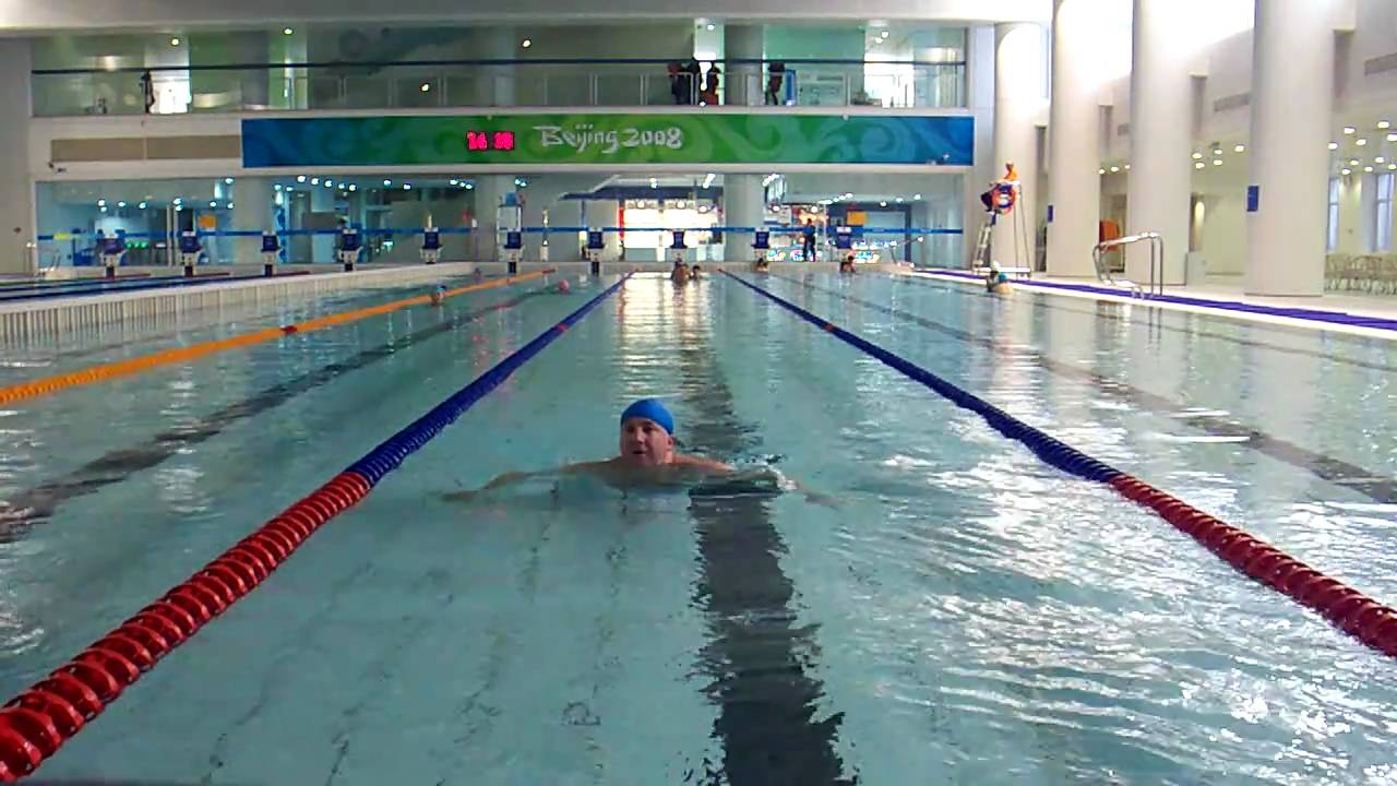 Swim at the olympic water cube pool beijing china youtube for Beijing swimming pool olympics