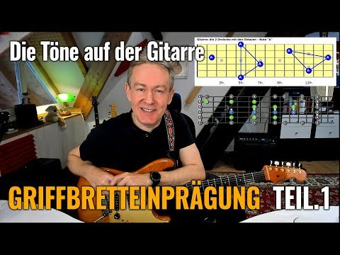 Griffbrett Einprägung - Teil.1- Visualisierung Der Töne Auf Der Gitarre