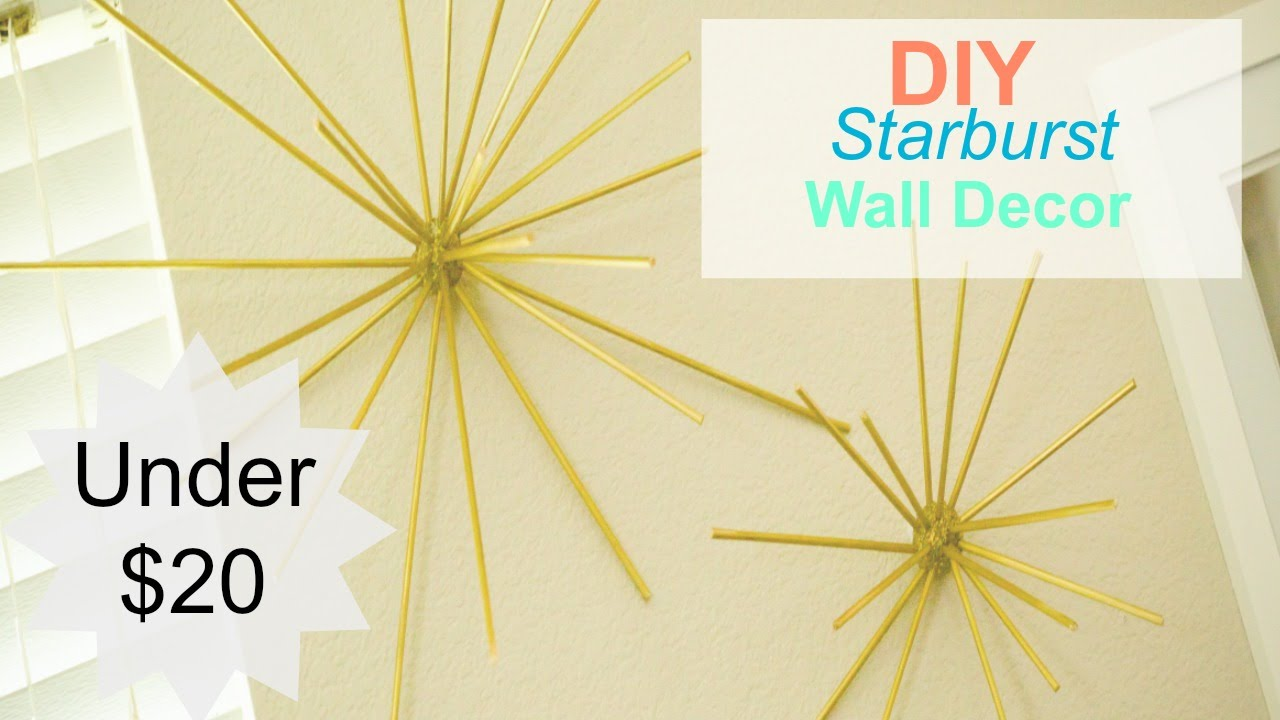Starburst Wall Decor diy- starburst wall decor - youtube