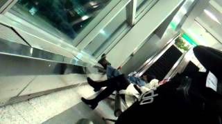 Government Recruited Homeless GangStalker At LaGuardia Airport LGA MP4