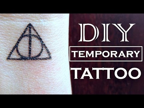 DIY Temporary Tattoo - Harry Potter | How to Make a Fake Tattoo