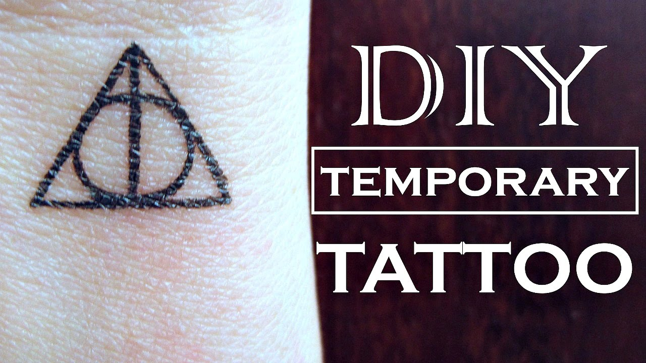 Diy Temporary Tattoo Harry Potter How To Make A Fake Tattoo