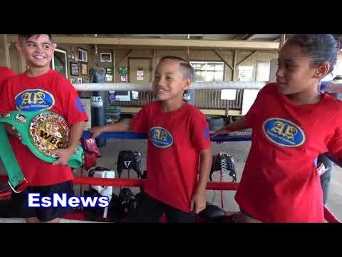 visiting a boxing gym in hawaii with mikey garcia EsNews Boxing