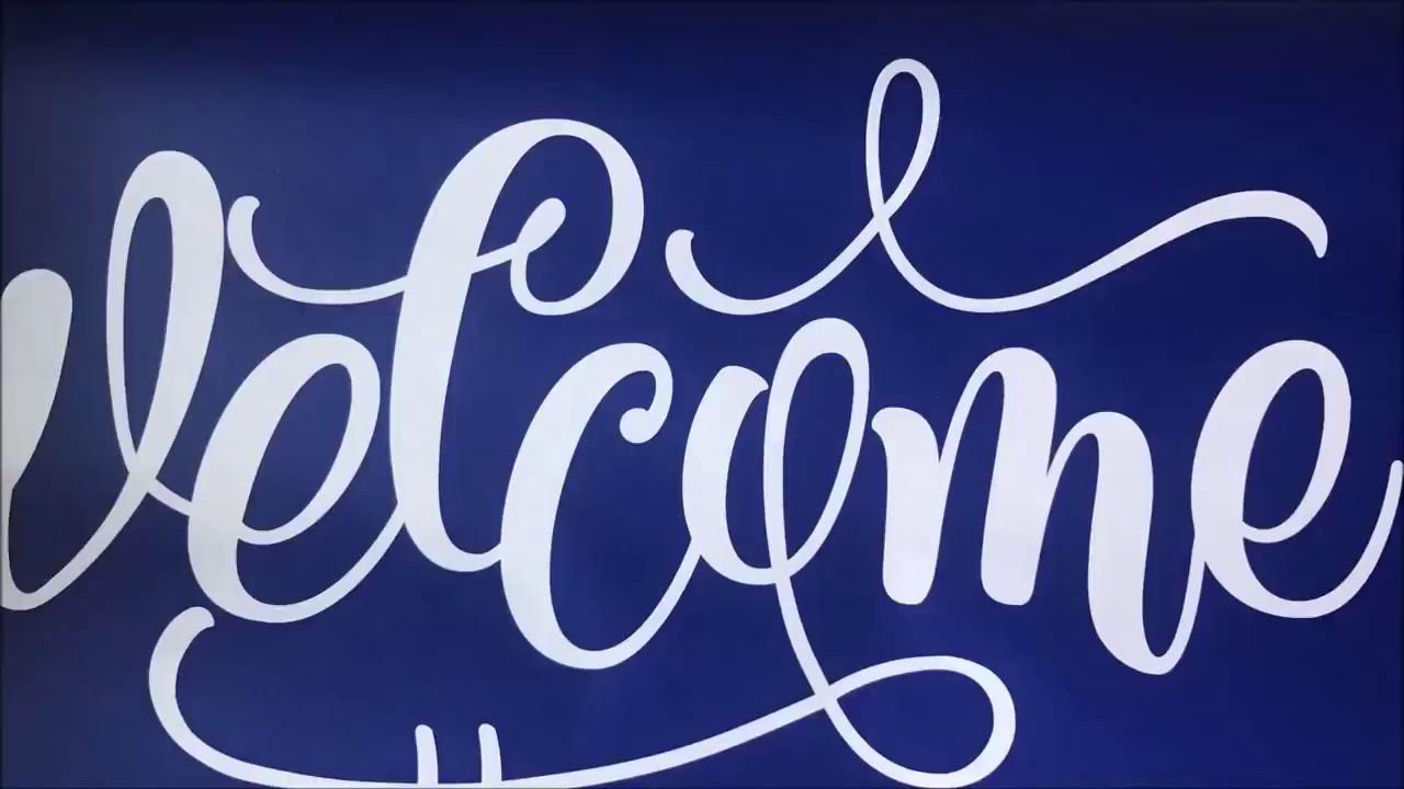 How to Stencil a Door Mat - Burton Avenue
