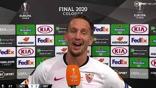 Sevilla 3-2 Inter Milan  Europa final 2020 Luuk de Jong Interview