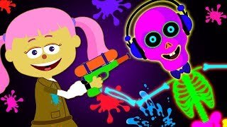 Funny Skeletons Playing Paintball And Finger Family Songs by Teehee Town
