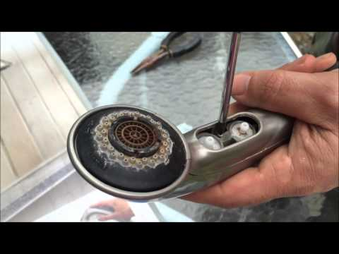 Moen Pull Out Faucet Disassembly and Cleaning