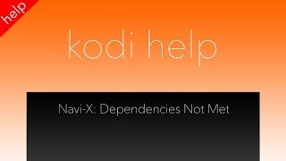 Navi X Fix - Dependencies Not Met
