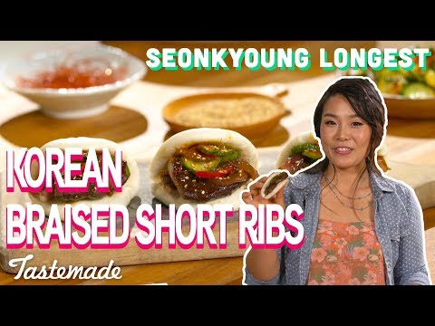 Korean Braised Short Ribs on Steamed Buns I Seonkyoung Longest