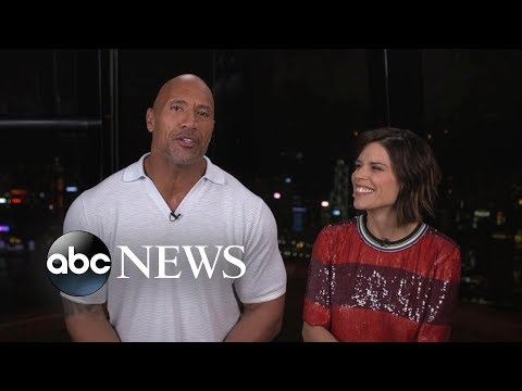 Dwayne 'The Rock' Johnson tried not to 'fanboy out' when he first met Neve Campbell