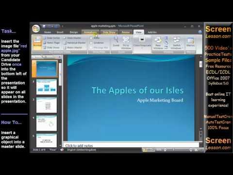 Ecdl advance presentation (powerpoint 2013) youtube.