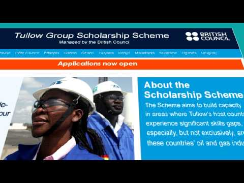 Tullow Scholarship application Guide
