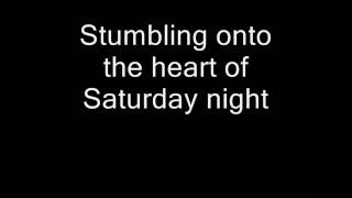 Tom Waits Looking For The Heart Of Saturday Night Lyrics