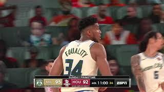 Houston Rockets vs Milwaukee Bucks | August 2, 2020