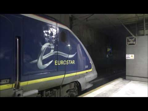 (HD) TGVs And Eurostars At Lille Europe   29/12/2016