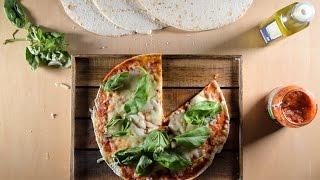 بيتزا التورتيلا بعشر دقائق فقط