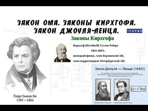 Закон Ома. Законы Кирхгофа. Закон Джоуля-Ленца - YouTube