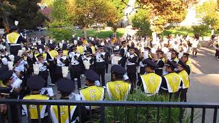 "Cal Band ""Fight for California"" Sproul Plaza vs. Weber State 2017 Berkeley California"