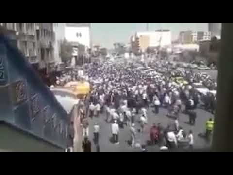 "Shiraz, Iran, August 2. Protesters chant: ""Not Gaza, Not Lebanon, My life for Iran"""