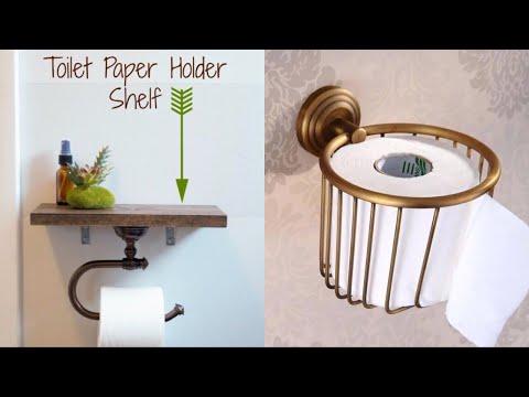 15+ DIY Toilet Paper Holder Ideas